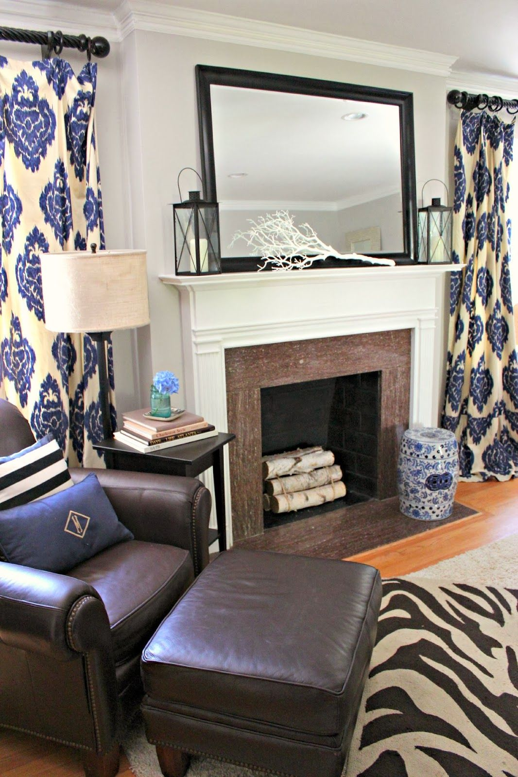 Small Blue Living Room Designs: Brown, Blue Living Room, Brown