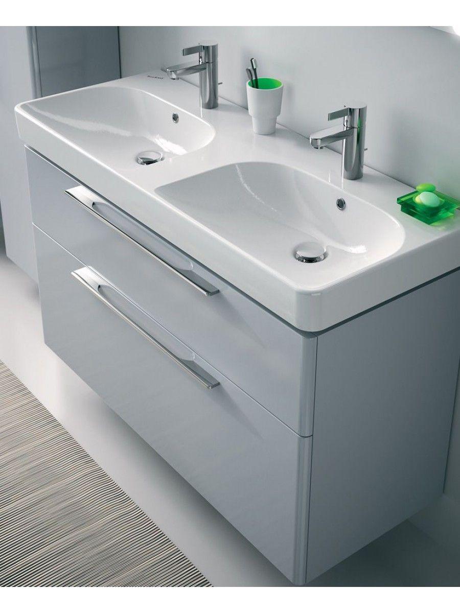 Twyford E500 1200 Grey Double Vanity Unit Wall Hung. Twyford E500 1200 Grey Double Vanity Unit Wall Hung   Bathroom