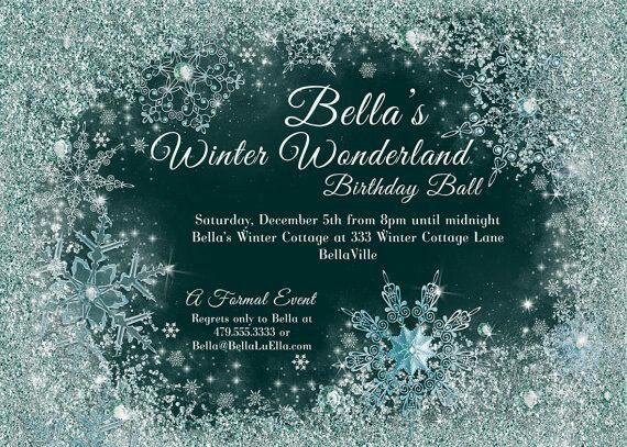 Invitation Template Winter Wonderland Charity Ball 2016