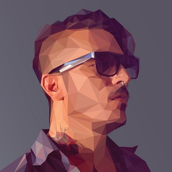 How to Create a Low Poly Art Self Portrait Tutorial