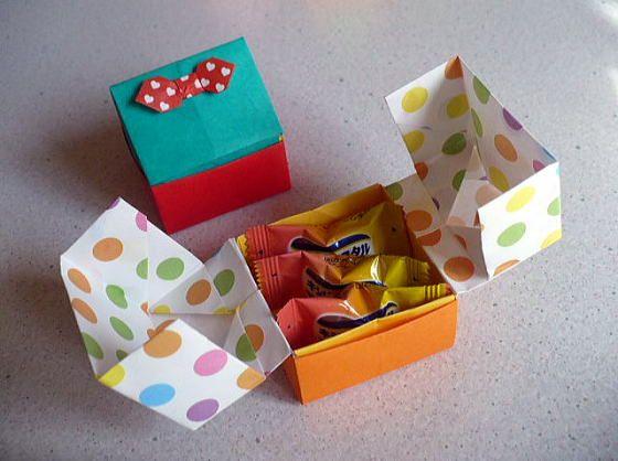 ハート 折り紙 折り紙 可愛い箱 : pinterest.com