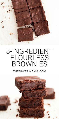 5-Ingredient Flourless Brownies