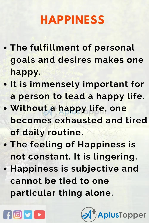 Happinessessay Essayonhappines Aplustopper What I Happines Essay Happy Happiness