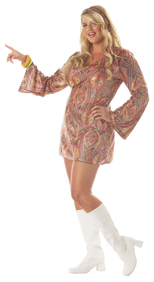 Plus Size Disco Dolly Sexy Costume Disco Costumes My Disco Party