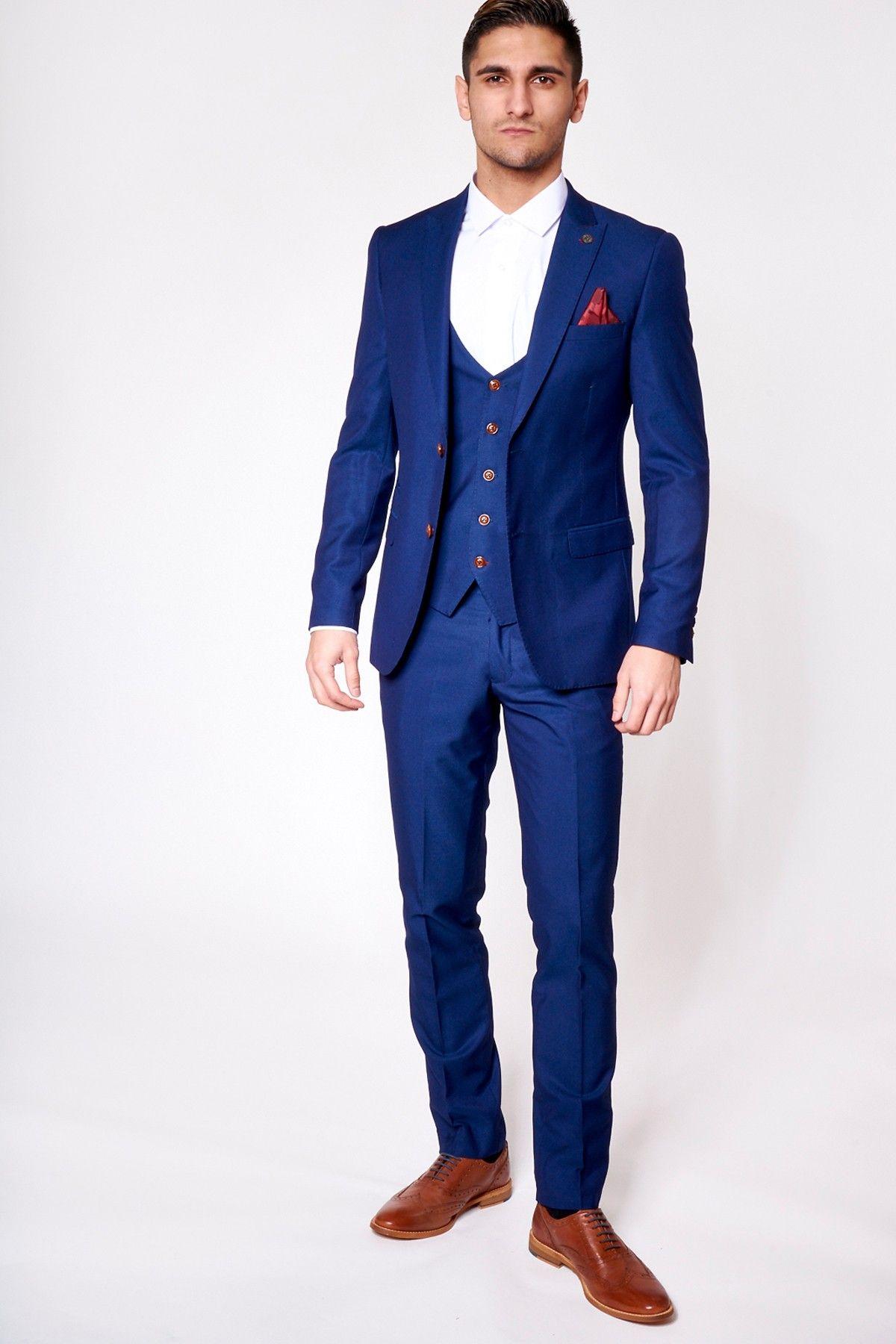 Mens Suit | Three Piece | Navy | Tailored | Belmont | Marc Darcy ...