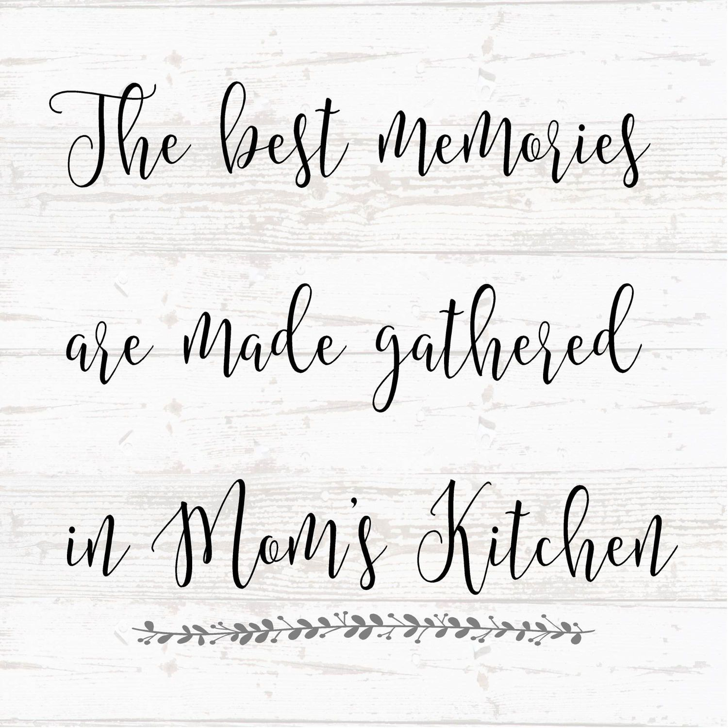 Mothers Day - Best Memories Moms\' Kitchen Grandma Wood Sign Canvas ...