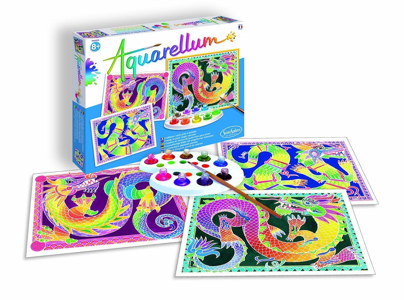 Aquarellum Dragons Painting Kit Dragon Crafts Arts And Crafts