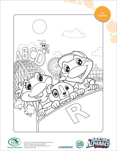 alphebet coloring pages LeapFrog Printable: The Amazing Alphabet Amusement Park Coloring  alphebet coloring pages