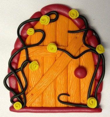 Polymer Clay Fairy Door - Fire Fairy