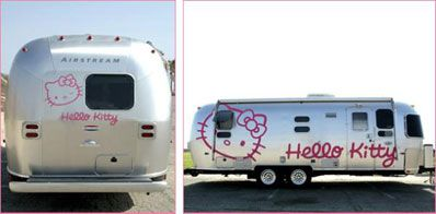 If I was to take up camping, this is the way I'd like to go - in total Hello Kitty pink style!