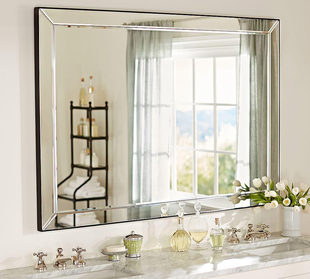 Astor Double Wide Rectangular Mirror Medicine Cabinet Mirror Bath Mirror Rectangular Mirror