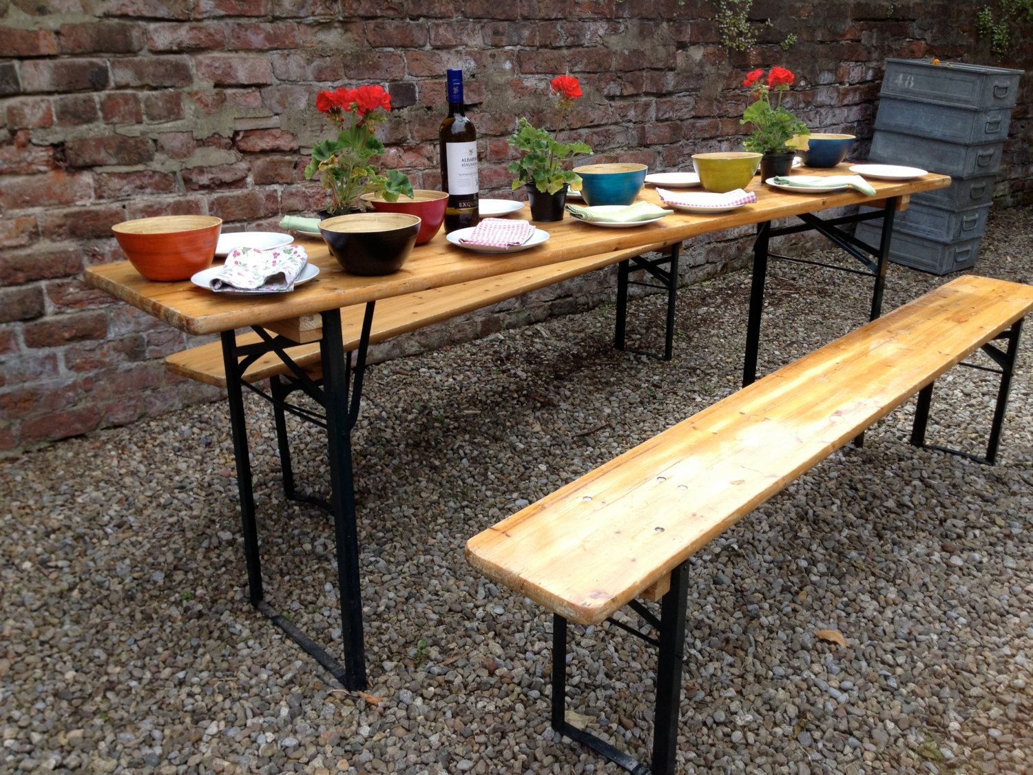 Original Vintage German Beer Hall Table And By ScavengeVintage, £160.00