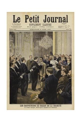 Rescuers From The Fire At The Bazar De La Charite Paris 1897 Giclee Print Art Com Bazares The Globe Historia