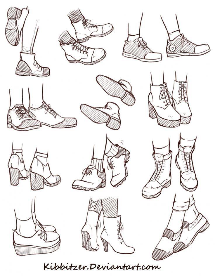 2018 年の shoes reference sheet 2 イラスト 勉強 dessin