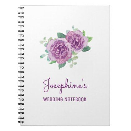 Purple Rose Wedding Planning Notebook