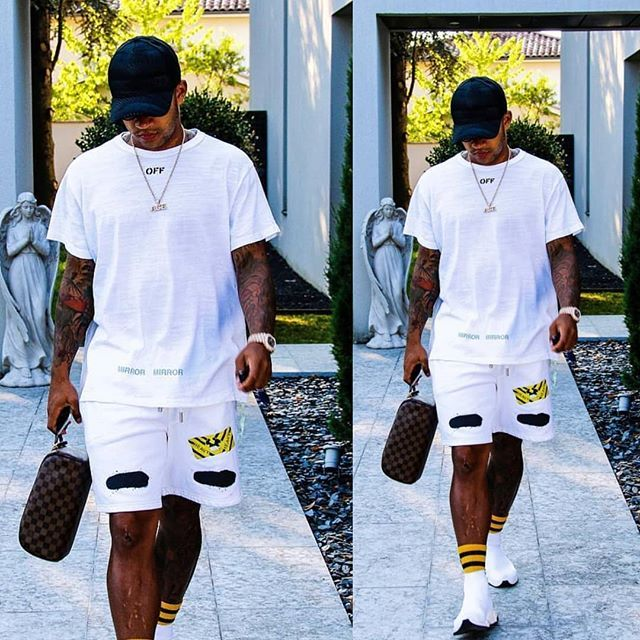 54e4ec08b2f0 Footballer  MemphisDepay laced in  OffWhite shirt shorts and  Balenciaga  speed trainers. DOUBLE TAP if you re a fan of this casual ensemble.   morethanstats