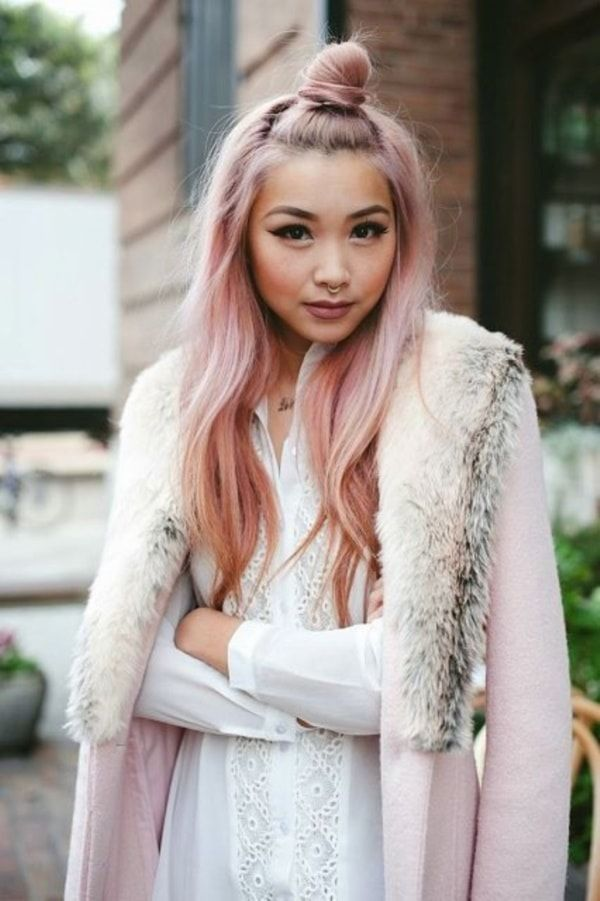 Idées de couleur de cheveux d'or rose de Disney Look0291