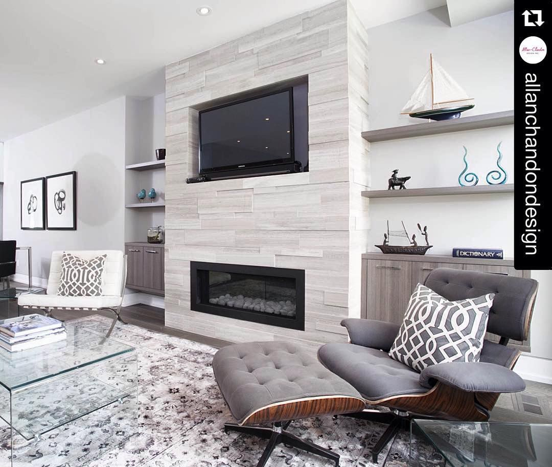 """Wauwatosa Open Concept Family Room: """"#Repost @allanchandondesign We Are Loving This Cozy Open"""