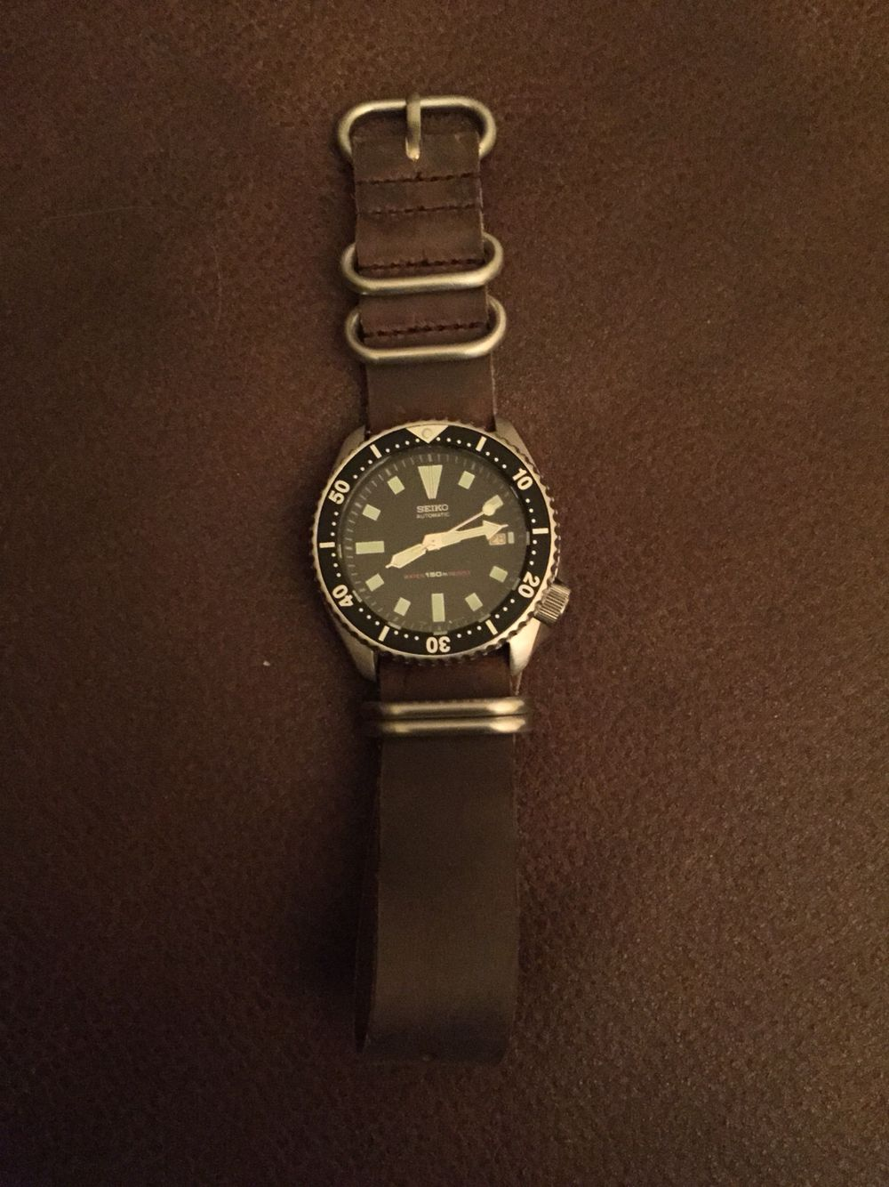 My 1993 Vintage Seiko 7002 Dive Watch on a Leather NATO Strap