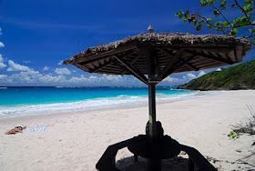 Macaroni Beach on Mustique Island....