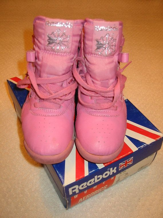 vintage 80s prism pink Reebok freestyle hi-top sneakers - worn once - womens  size 6 M on Etsy 8f7c8a9b4