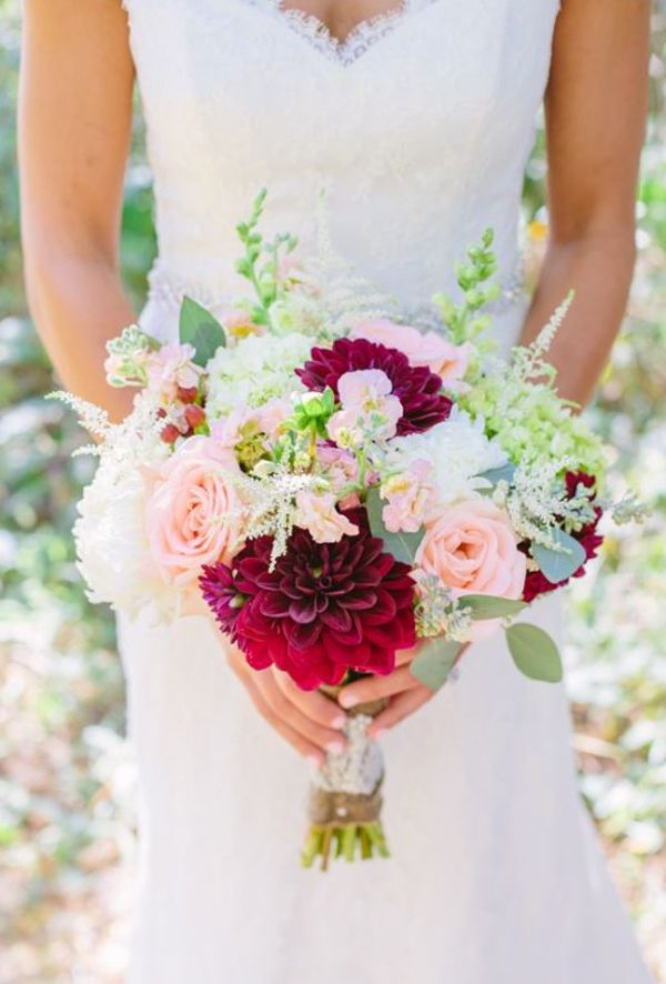Top 25 Wedding Bouquets Marsala Burgundy Pink Bouquet By Ashley Leslie