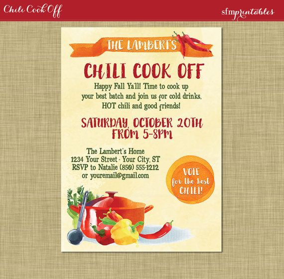 Entryway And Free Printables: Instant Download! Chili Cook Off Entry Numbers Labels