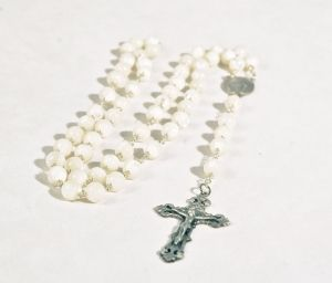 Mother of Pearl Rosary - 7mm - Mystic Monk Coffee