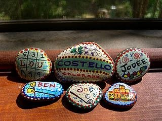 painted rocks maybe with