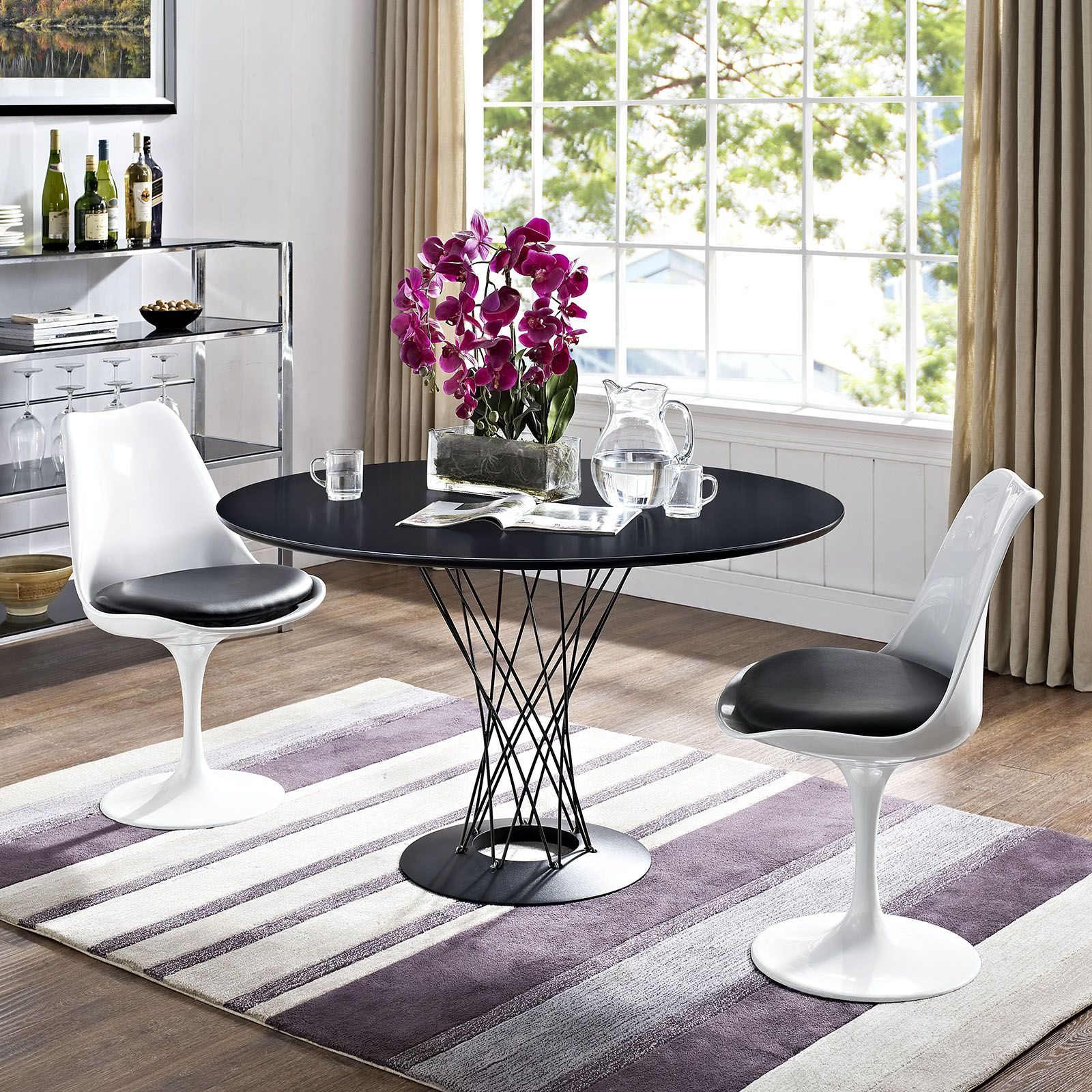 cyclone table tulip chair mid century style and modern
