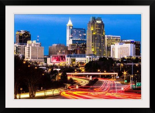 Evening Rush hour in Raleigh, NC | Cities & Skyline Art