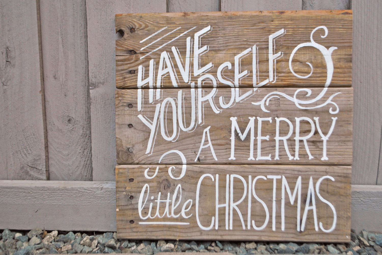 Have yourself a merry little christmas vintage poster style wood