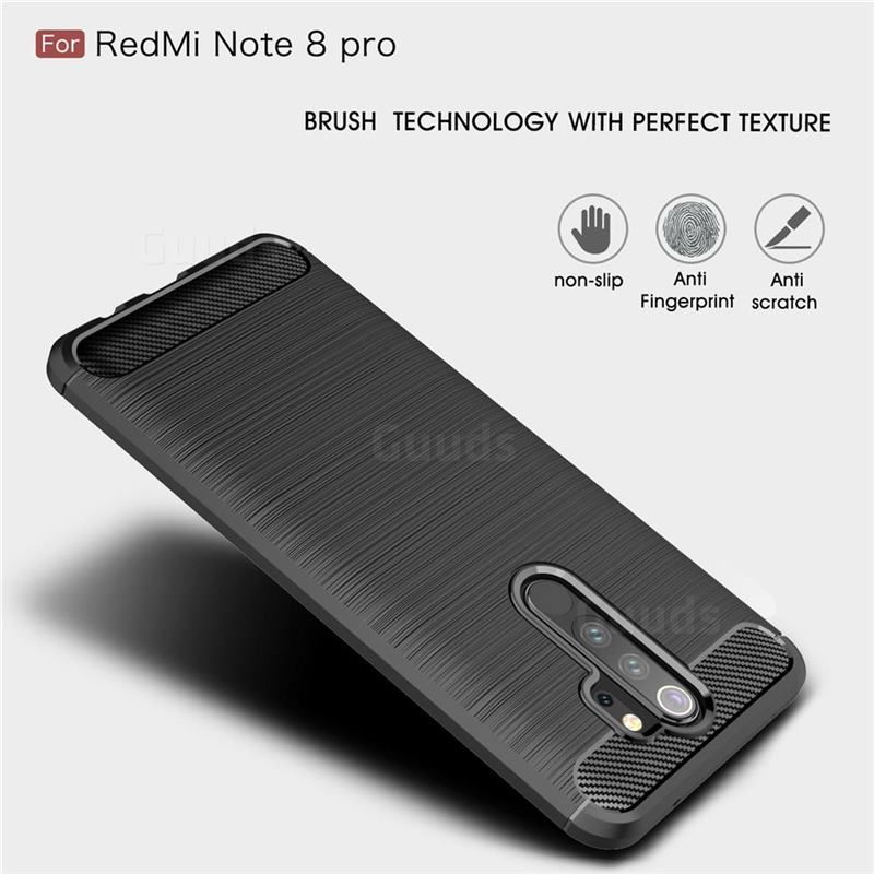 Luxury Carbon Fiber Brushed Wire Drawing Silicone Tpu Back Cover For Mi Xiaomi Redmi Note 8 Pro Black Xiaomi Redmi Note 8 Pro Cases Guuds In 2020 Wire Drawing Pro Black Case Cover
