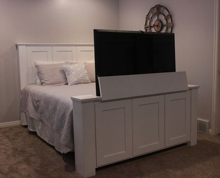 tv lift footboard bed in 2021 tv beds