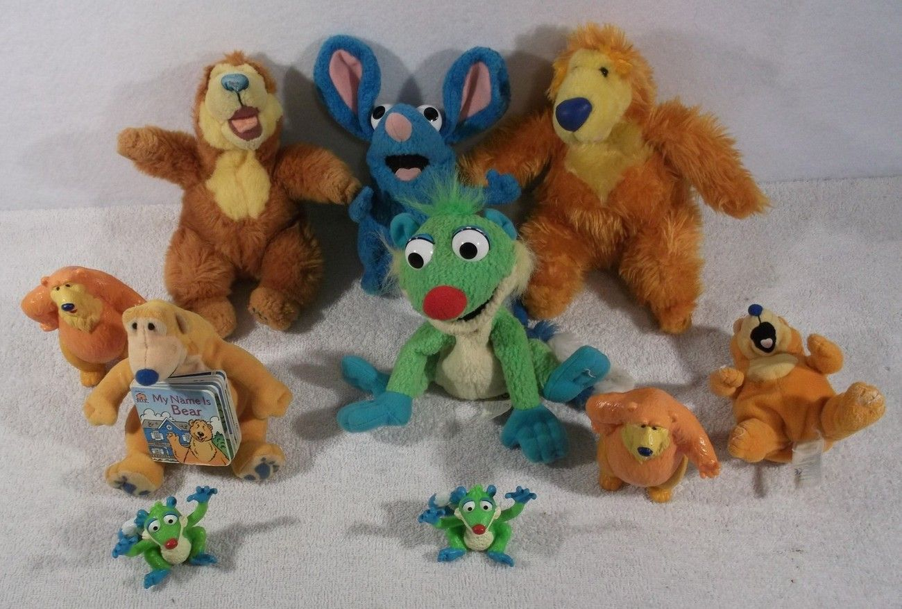large lot of disney bear in the big blue house plush toys figures