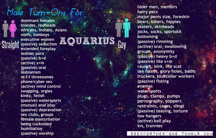 Aquarius man turn ons