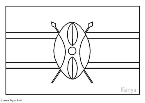 Coloring Page Flag Kenya Flag Coloring Pages Africa Flag