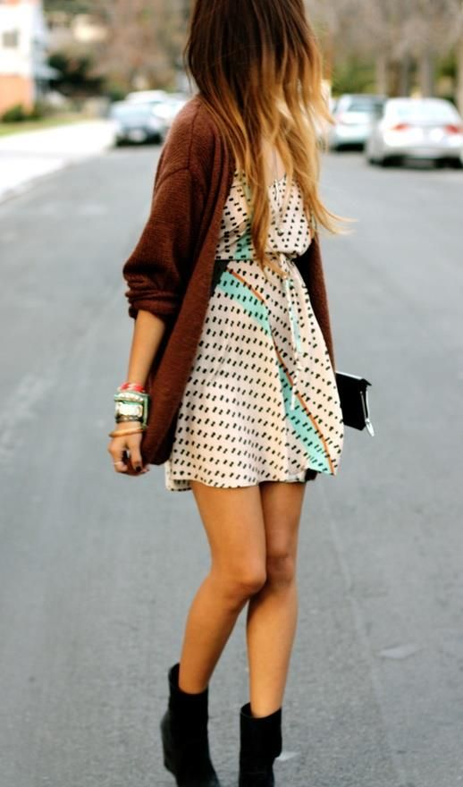#Dress #Sweater #Hipster #Boots #Ombre