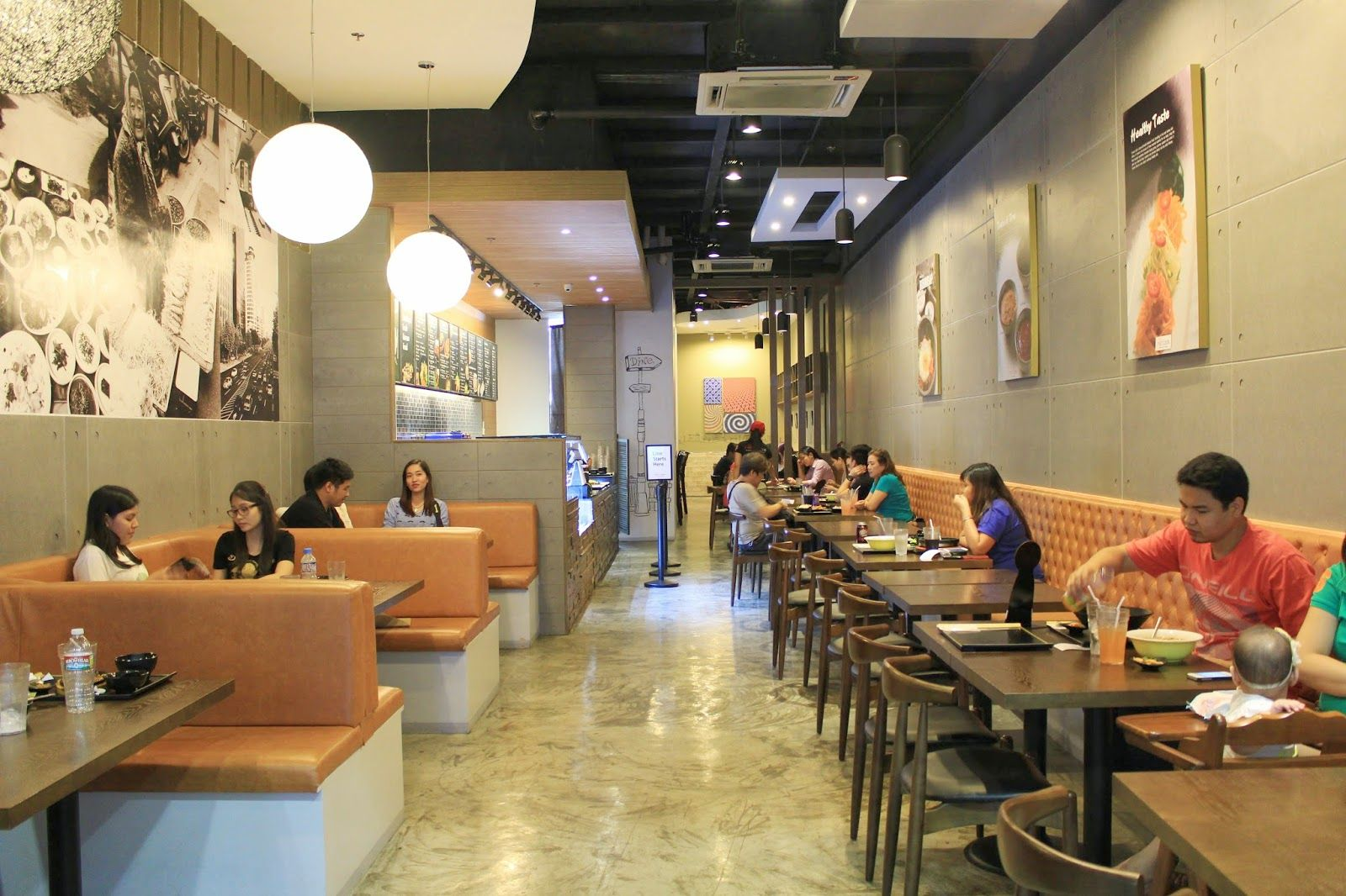 Red table korean fast casual restaurant interior love