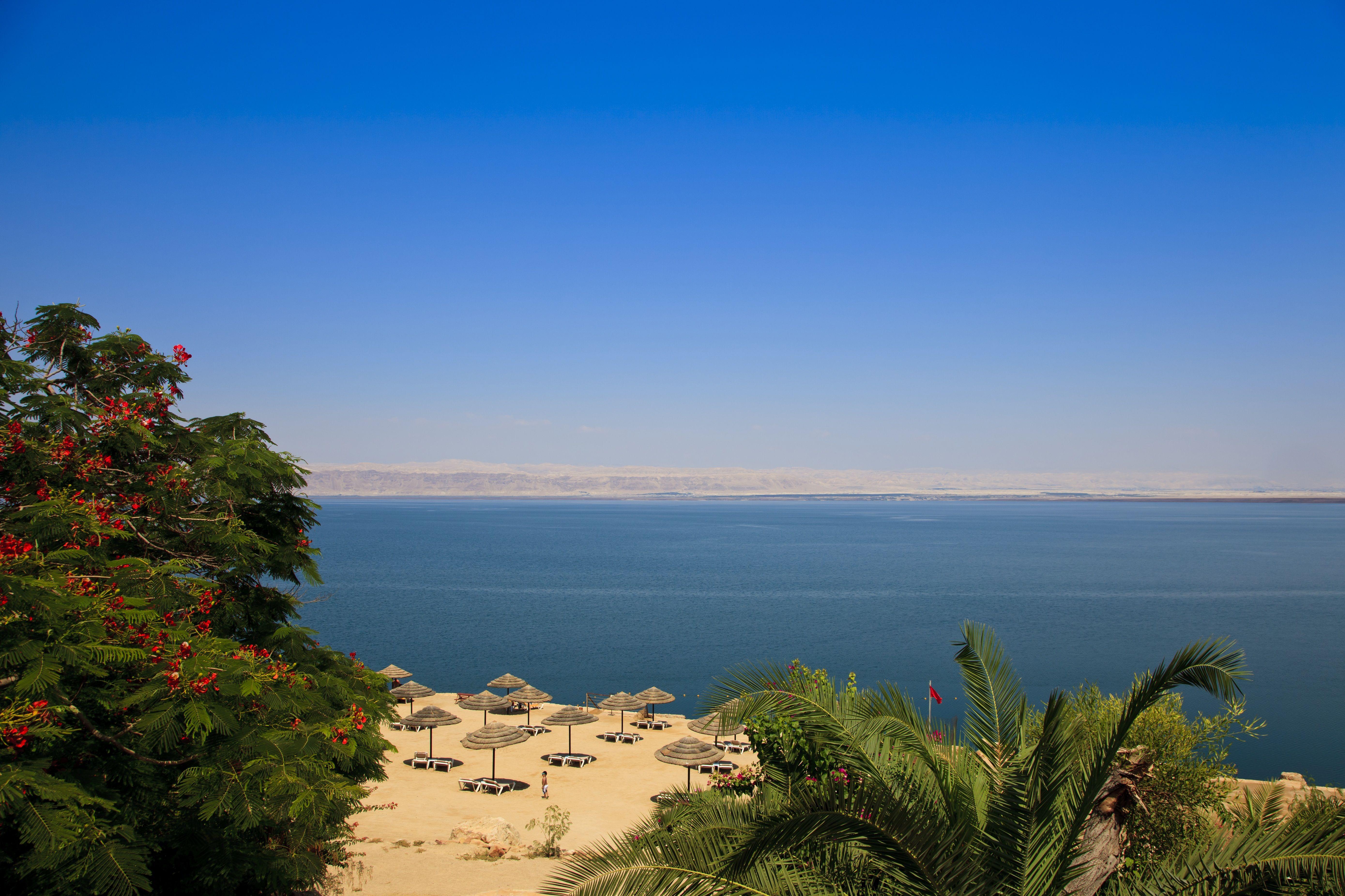 Beach At The Lowest Point On Earth Tropical Beach Dead Sea Israel Earth