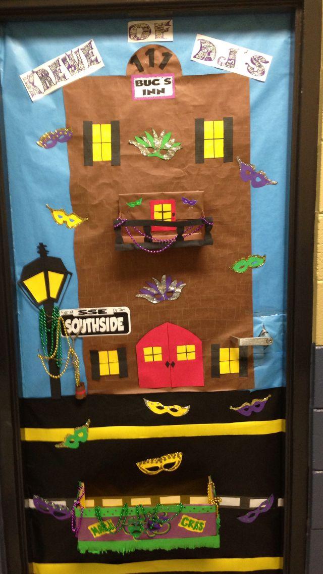My Mardi Gras door.   class crafts   Pinterest   Mardi ...