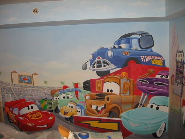 Painted Car Wall Murals Ideas   My Dad Could SO Do This.