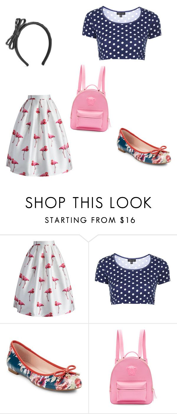 """""""Happiness"""" by milenchik ❤ liked on Polyvore featuring beauty, Chicwish, Topshop, Kate Spade, Versace and RED Valentino"""