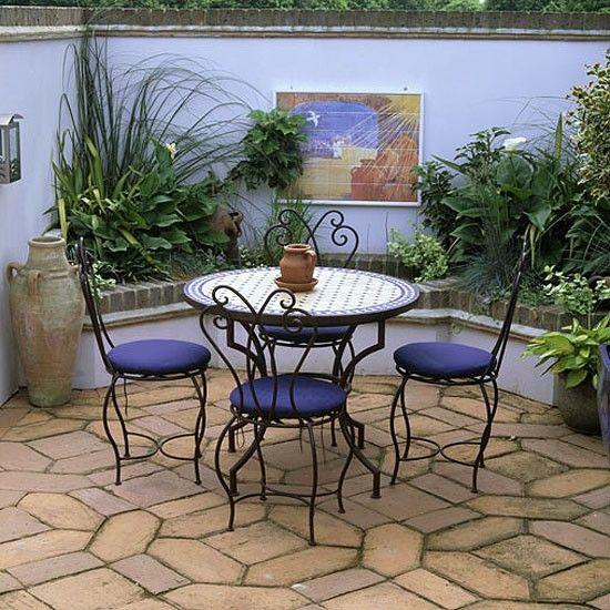 Moroccan style garden terrace. Moroccan style garden terrace   Moroccan  Terraced garden and Gardens