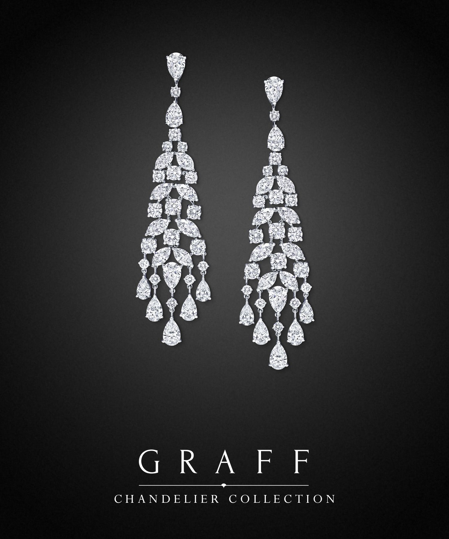 diamonds nuage pair a earrings of collections cascade graff diamond