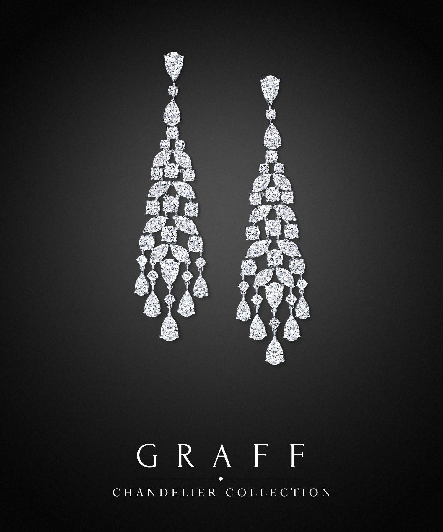 Chandelier Earrings Diamond chandelier earrings, Diamond