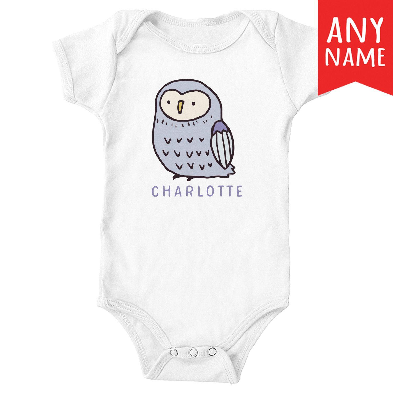 a8bd0557c Baby Owl Personalised Baby Onesie Baby Owl Personalized Custom Name Baby  Onesie Bodysuit | Owl Baby Onesie | Personalized Baby Girl Gifts