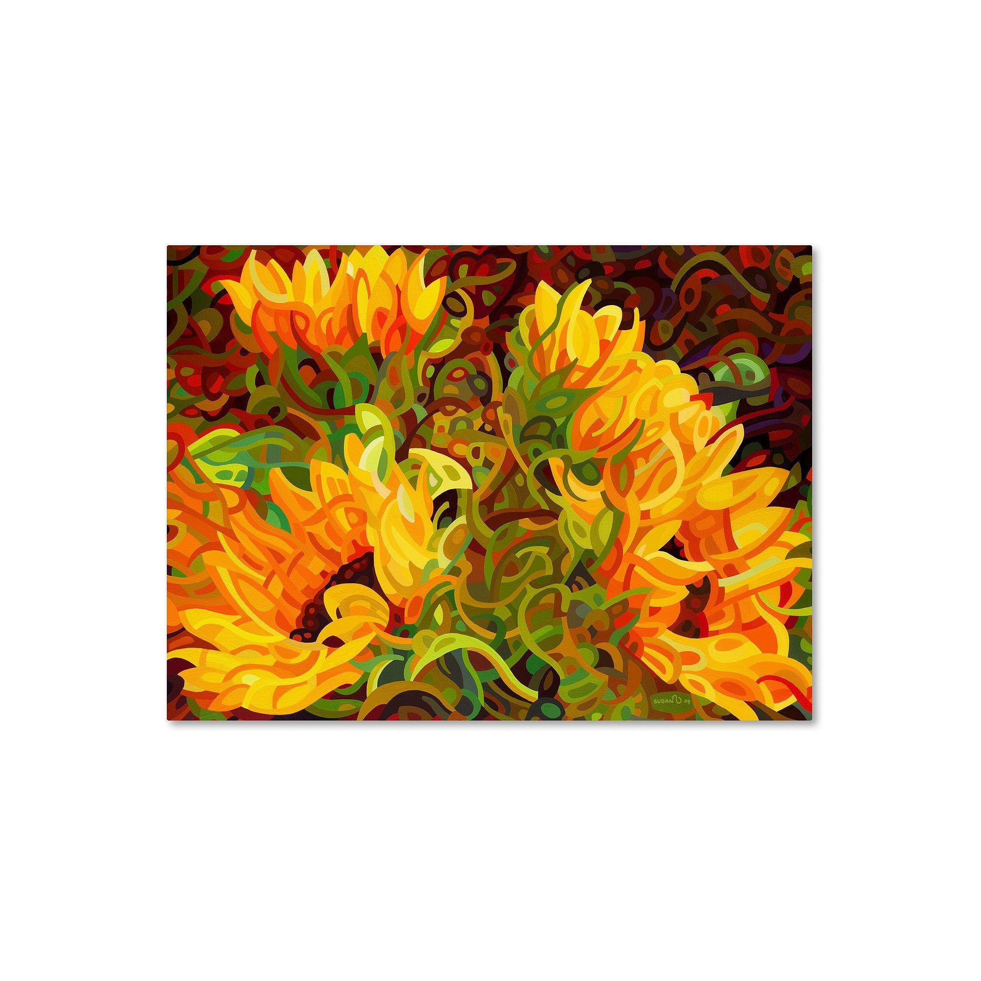 Trademark Fine Art Four Sunflowers Canvas Wall Art, Yellow | Fine ...