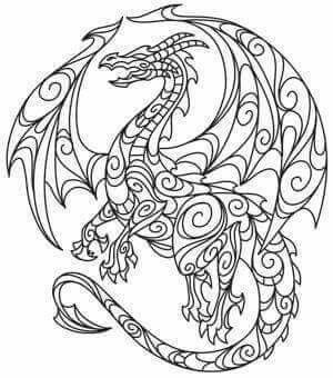 Dragon | Mythological Creatures & castles | Coloring pages, Dragon