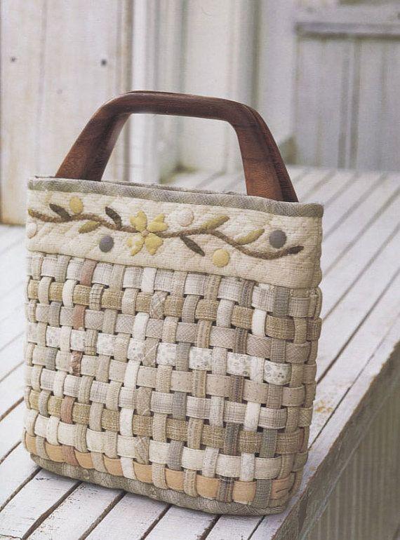 pdf pattern of how to basket weaved handbag purse wallet pouch bag quilt applique. Black Bedroom Furniture Sets. Home Design Ideas